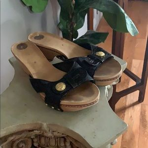 Coach Black Patented leather sandals😍😍😍❤️❤️❤️